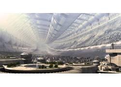 科幻小说,动画,幻想艺术,抽象,屋,空间站,斯坦福环面,极乐世界231