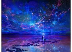 科幻小说,幻想艺术,抽象,窗口,动漫,天空153255