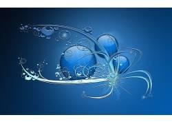 数字艺术,蓝色背景,抽象36615
