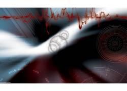 数字艺术,血液,圈,抽象,数字,线,几何363660