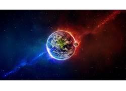 空间,抽象,华美,地球,行星,宇宙,太空艺术,月亮,数字艺术,明星,星