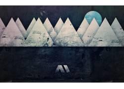 数字艺术,三角形,抽象,圈37662