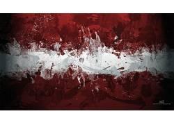 简单,简单的背景,极简主义,抽象,拉脱维亚的旗子230639