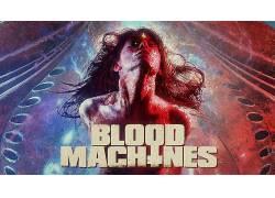 血液机器,复古的风格,妇女,电影海报,木匠香槟,Seth Ickerman4774