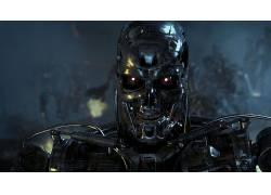 终结者,电影,半机械人,内骨骼,机,终结者3:机器的崛起,科幻小说,