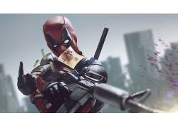 死侍,漫威漫画,电影,枪,手枪,超级英雄473387
