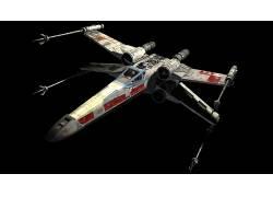 星球大战,X翼,科幻小说,R2-D2,空间,电影,黑色的背景,给予,数字艺