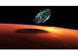 星球大战:原力觉醒,千年猎鹰,行星,星球大战,空间,电影,科幻小说