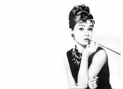 奥黛丽・赫本,蒂凡尼的早餐,Holly Golightly,妇女,电影,单色,演