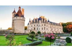 建筑,古,城堡,树木,壁纸,公园,花园,阳光,塔,草,花卉358615