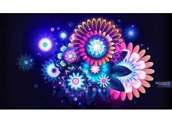 Rik Oostenbroek,抽象,花卉,数字艺术60640