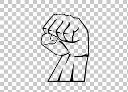 黑色团结力量拳头图标
