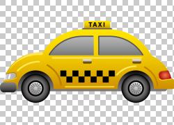 出租车图标,出租车元素,黄色出租车插图PNG剪贴画紧凑型车,汽车,