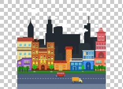 城市景观平面设计天际线,城市交通PNG剪贴画铅笔,建筑,城市,公寓,
