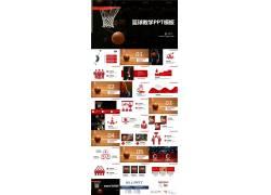 青少年篮球教学ppt课件模板