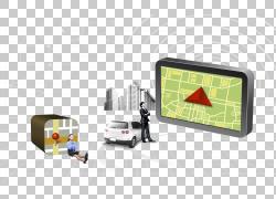 电池充电器汽车点烟器插座手机全球定位系统,地理和商务人士PNG剪图片