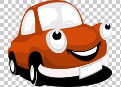 汽车,汽车的PNG剪贴画紧凑型车,驾驶,剪贴画,橙色,汽车,卡通,鼻子