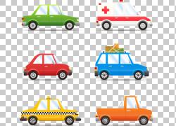 平面设计卡通,救护车卡车设计PNG剪贴画海报,卡车,汽车,运输方式,