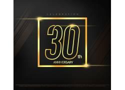 创意周年庆数字30