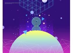 创意抽象几何图案海报