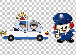 警察卡通盗窃,警报红色PNG剪贴画电子,警察,汽车,运输方式,3d小人