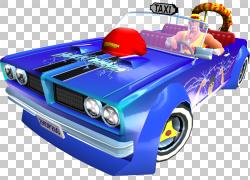 疯狂出租车:城市高峰疯狂的出租车2世嘉,出租车PNG剪贴画蓝色,汽图片