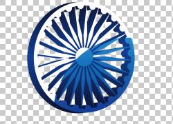 红堡轮子旗子印度Ashoka脉轮,艺术车轮,蓝色和白色轮子例证PNG cl