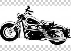 哈雷戴维森摩托车,复古摩托车的PNG剪贴画汽车,单色,摩托车,车辆,