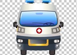 卡通医学汽车设计图标,手绘救护车元素PNG剪贴画紧凑型汽车,手,汽