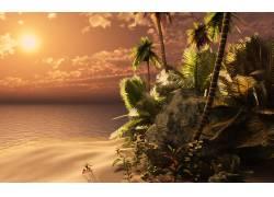 100376,地球,海滩,壁纸图片