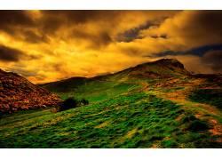 84017,地球,山,山脉,草,壁纸图片