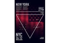 国外美国旗子海报模板