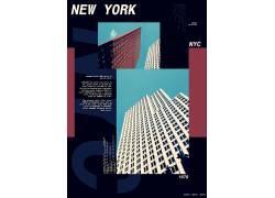 国外城市建筑海报模板