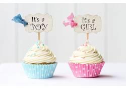 食物,纸杯蛋糕,奶油,女孩,男孩,壁纸