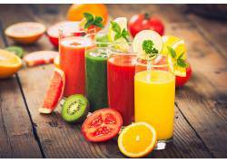 食物,喝酒,玻璃,水果,番茄,猕猴桃,橙色的,壁纸图片