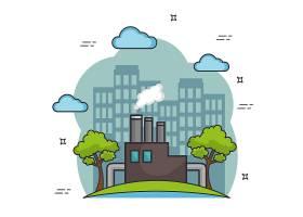 城市污染素材