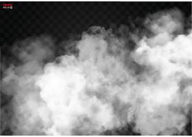 白色云朵烟雾背景