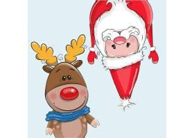 麋鹿和圣诞老人