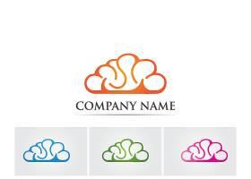 创意脑元素logo设计
