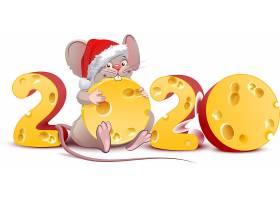 2020圣诞节老鼠素材