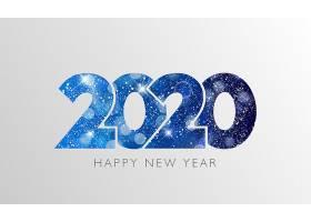 创意蓝色雪花2020素材