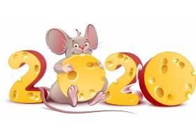 创意老鼠奶酪2020鼠年素材