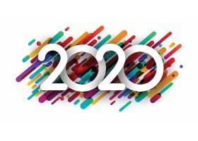 彩色圆柱形背景2020