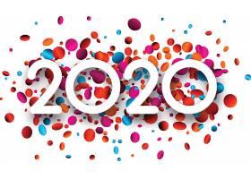 创意彩色背景2020素材