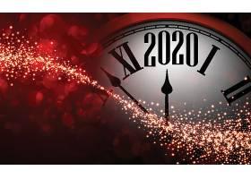 创意流光背景钟表2020素材