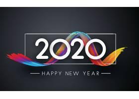 彩色彩带背景2020素材