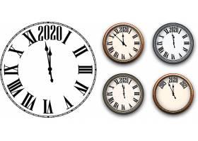 简洁钟表2020素材