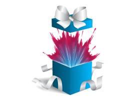 彩纸礼物盒生日快乐海报