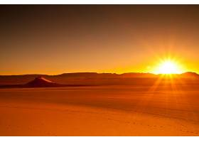 875897,地球,沙漠,阿尔及利亚,非洲,日落,撒哈拉沙漠,橙色的,风景