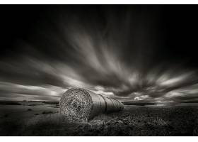 602541,地球,干草堆,领域,自然,黑色,白色,风景,云,壁纸